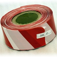Red/ White Barrier Tape - Non-Adhesive - 70mm x 500m Roll