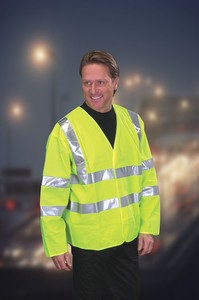 Hi-Visibility - Motorway Safety Jacket - BSEN471 Class 3 - Clearly a Bargain!