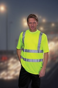 Hi-Visibility Safety T Shirt - BS EN471 Class 2 - Short Sleeve - Knitted Colar & Cuffs - 100% Polyester - Yellow & Orange