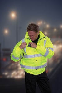 Hi-Visibility Bomber Jacket - BS EN471 Class 3 - Essential Safety and Style!