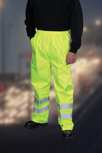Hi-Visibility Waterproof Contractor Trousers - BS EN471 - Low LOW Price!