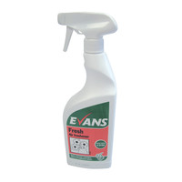 Evans Vanodine Fresh - Concentrated Air Freshener & Deodoriser - 750ml RTU trigger spray