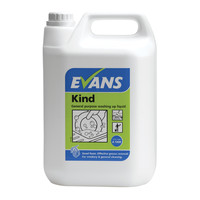 Evans Vanodine Kind - Washing Up Liquid and General Purpose Detergent - 5ltr
