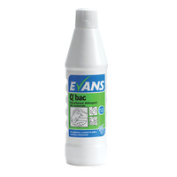 Evans Vanodine Q'Bac - Superior Washing Up Liquid & General Purpose Detergent With Bactericide - 1ltr