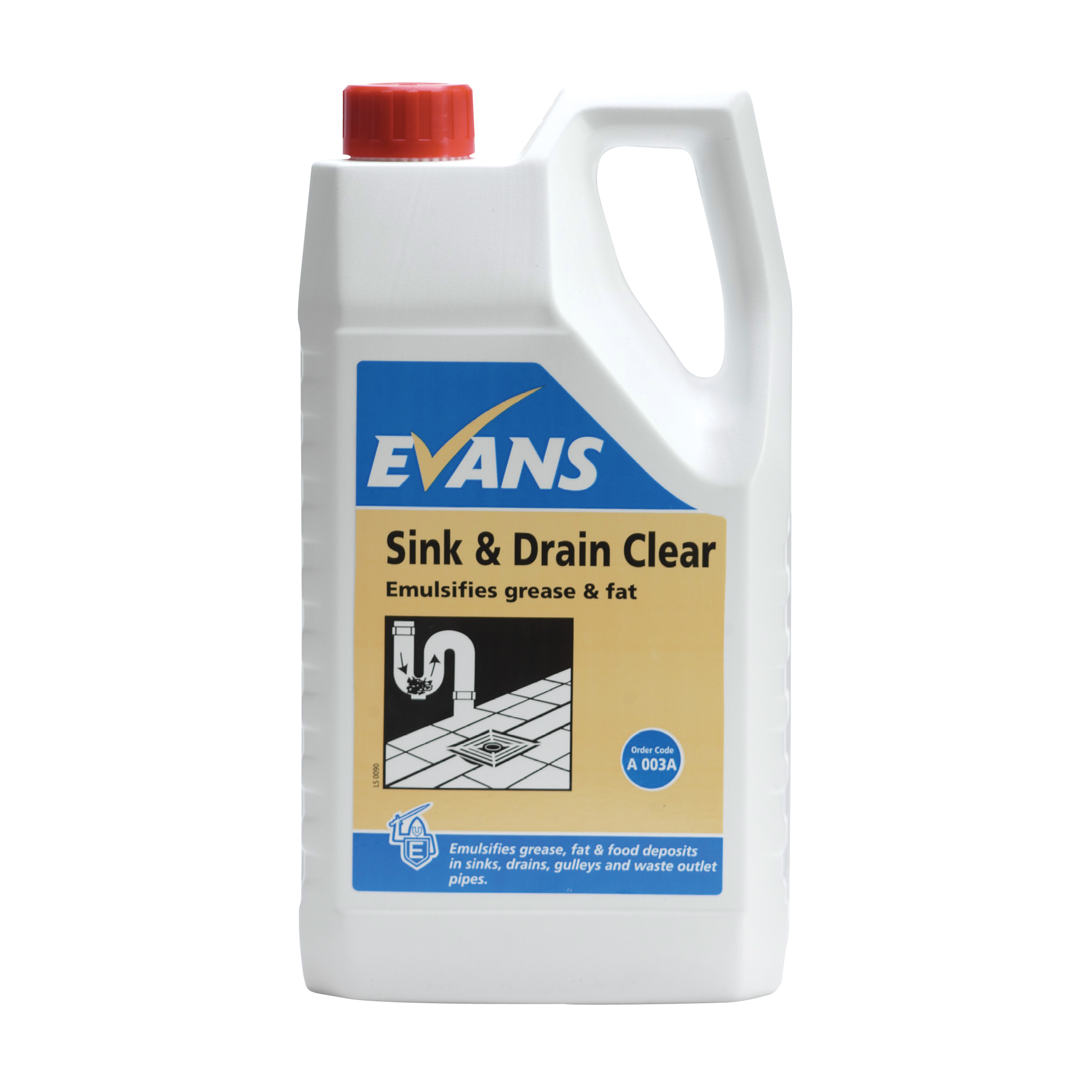Evans Vanodine Sink And Drain Clear Powerful High Active