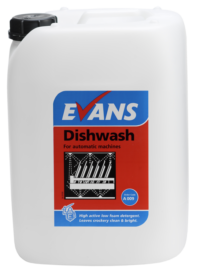 Evans Vanodine Dishwash - Detergent For Automatic Single and Multi Tank Machines - 10ltr