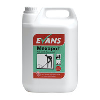 Evans Vanodine Mexapol - Metallised High Solids Dry Bright Floor Polish - 5ltr