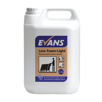 Evans Vanodine Low Foam Light - Cleaner for Scrubber Driers - 5ltr