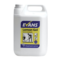 Evans Vanodine Lemon Gel - Viscous Citrus Floor Cleaning Gel - 5ltr
