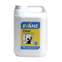 Evans Vanodine Clear - Window, Glass, Mirror & Stainless Steel Cleaner - 5ltr