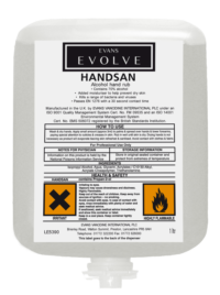 Evans Vanodine Evolve Handsan Alcohol Hand Sanitiser Cartridge Pack 1ltr - Case of 6