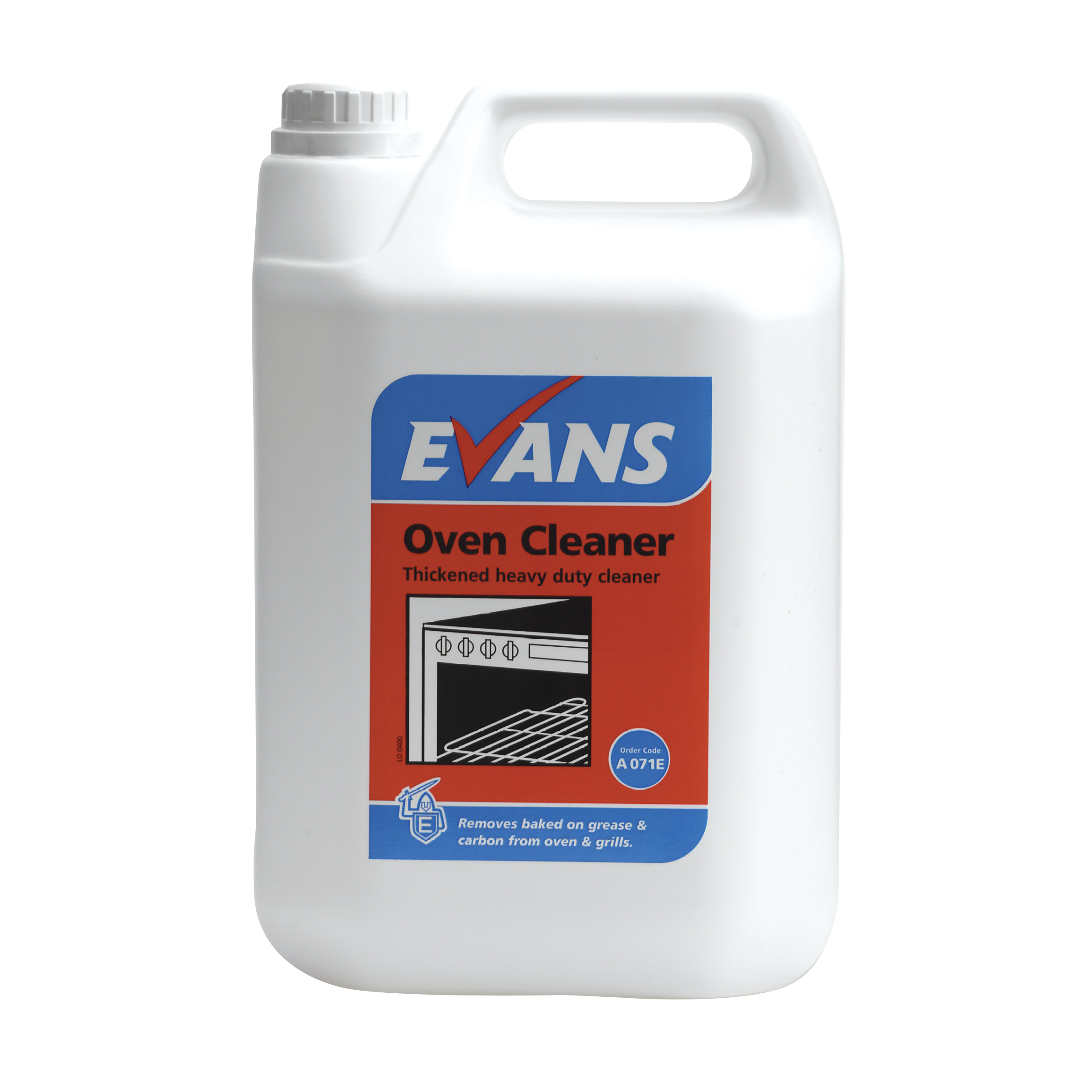 Evans Vanodine Oven Cleaner Thickened Heavy Duty Cleaner Removes Baked On Grease 5ltr