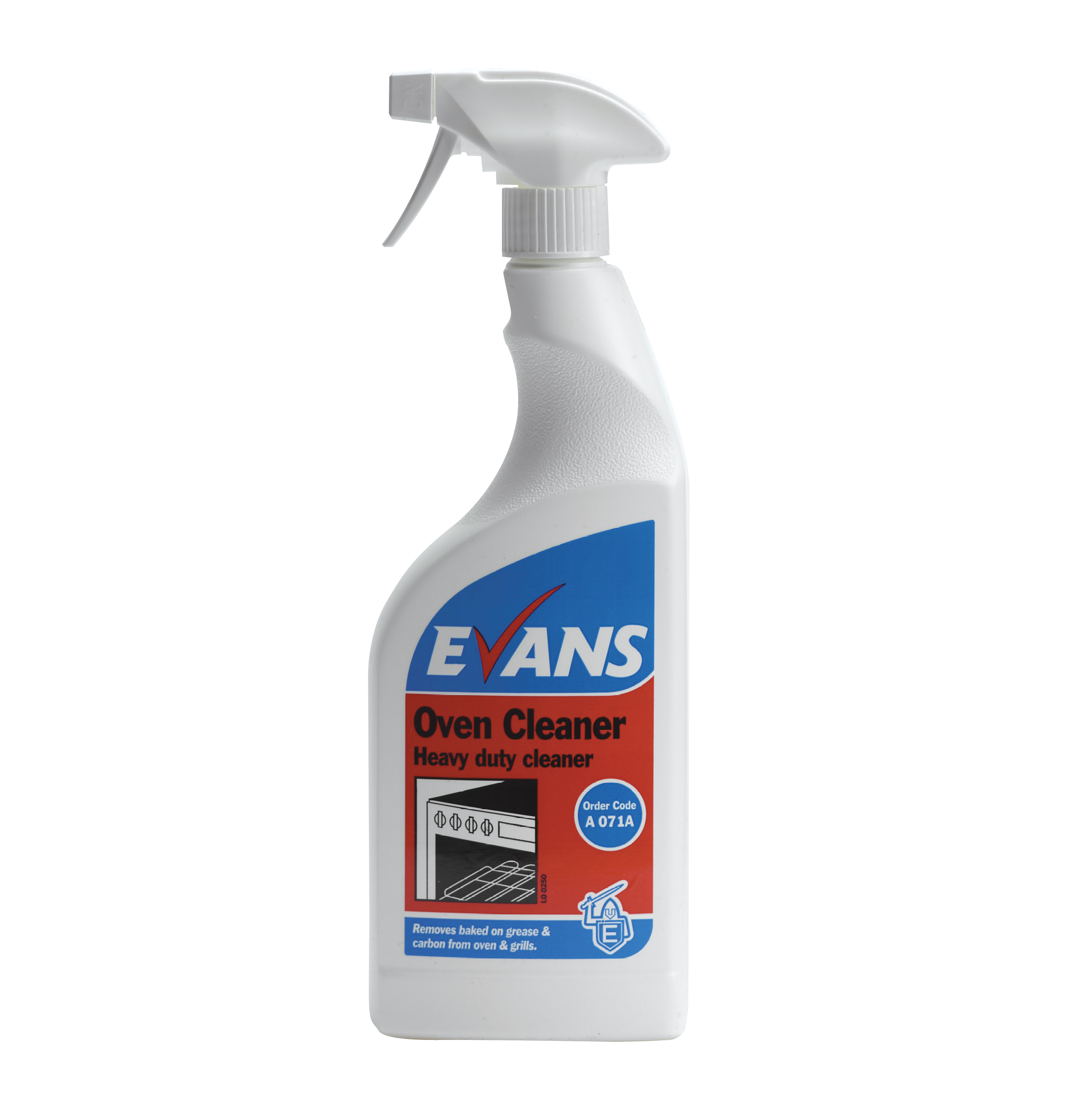 Evans Vanodine Oven Cleaner Heavy Duty And Thickened Removes Baked On Grease 750ml Rtu
