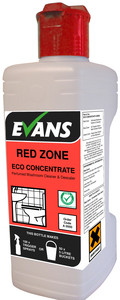 Evans Vanodine Red Zone Concentrated Perfumed Washroom Cleaner and Descaler 1ltr
