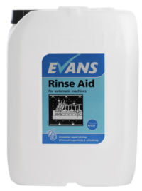 Evans Vanodine Rinse Aid Dish - For Automatic Single and Multi Tank Machines - 10ltr drum