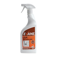 Evans Vanodine L.S.P. - Multi Surface Liquid Spray Polish - 750ml RTU trigger spray