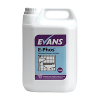 Evans Vanodine E-phos - Heavy Duty Toilet and Washroom Cleaner and Sanitiser - 5ltr