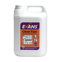 Evans Vanodine Clean Fast - Heavy Duty Washroom Cleaner - 5ltr