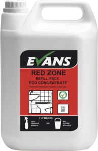 Evans Vanodine Red Zone Concentrated Washroom Cleaner Bulk Refill 5ltr
