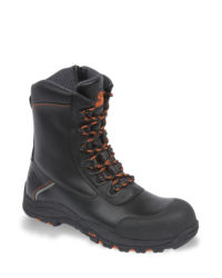 V-Tech Defiant Outsize Black High Leg Zip Sided Safety Boot - Available In Sizes 14-15