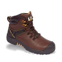 Vtech Cougar VR6 Boot S3 - Cambrelle Lined Safety Footwear - Shock Absorbant Sole - Hiker Style - Brown
