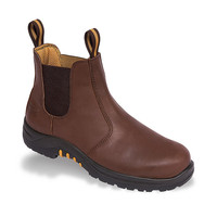 Vtech Stallion VR6 Dealer Boot - Brown Waxy Safety Footwear with Elasticated Sides
