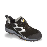 Vtech Fastlane Trainer S1P - Wider Shape Safety Footwear with Flexi Sole - Black/Silver