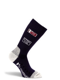 V-Tech V12 Navy Blue Wool Calf Length Sock - Pair - Available In Sizes Medium - XX-Large