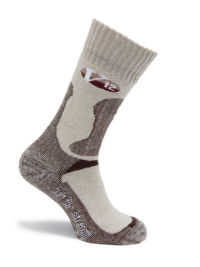 V-Tech V12 Fawn Marl Wool Calf Length Sock - Pair - Available In Sizes Medium - X-Large