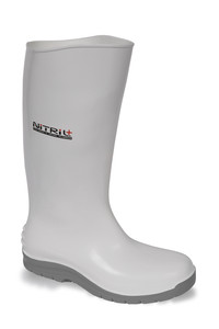 Vital Nitril+ White Nitrile Slip Resistant Safety Wellington Boot - Available In Sizes 3-12