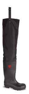 Vital Avon Black Safety PVC/ Nitrile Thigh Wader - Available In Sizes 6-12