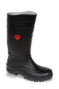 Vital Groundworker Black Safety PVC/ Nitrile Wellington Boot - Available In Sizes 4 - 13
