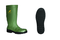 Vital Alpha Green Safety PU Wellington Boot - Available In Sizes 3-12