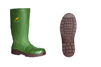 Vital Alpha Green Non-Safety PU Wellington Boot - Available In Sizes 3-12