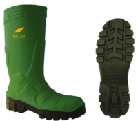 Vital Alpha Ice Pack Green Safety PU Wellington Boot - Available In Sizes 3-12