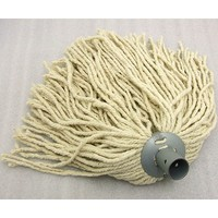 Socket Mop - Complete with Wooden Handle - Hard-Wearing PY Yarn & Metal Socket