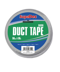 Silver Vinyl Duct Tape 50mm x 50m