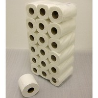 Standard Large Toilet Roll - White - Pack of 36 - Quality 2 Ply Bathroom Tissue - Approx 200 Sheets per Roll