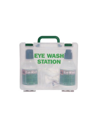 eye wash station how to use it