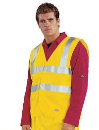 Dickies Hi-Visibility - Motorway Safety Waistcoat - BSEN471 Class 2