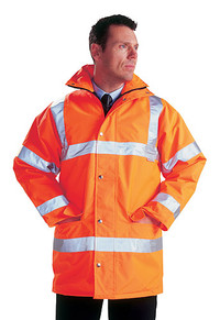 High Visibility Padded Motorway Safety Jacket