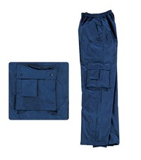 Delta Typhoon Waterproof Trousers - Polyester PVC Coated - Navy or Green