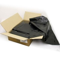 Black - Wheelie Bin Refuse Sacks (23x44x52'') - Heavy Duty 220g - Carton of 100 Bin Bags