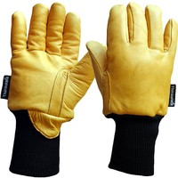 Freezer Glove - Superior Grain Leather Lined with 3M Thinsulate plus Knitted Wrist - XL